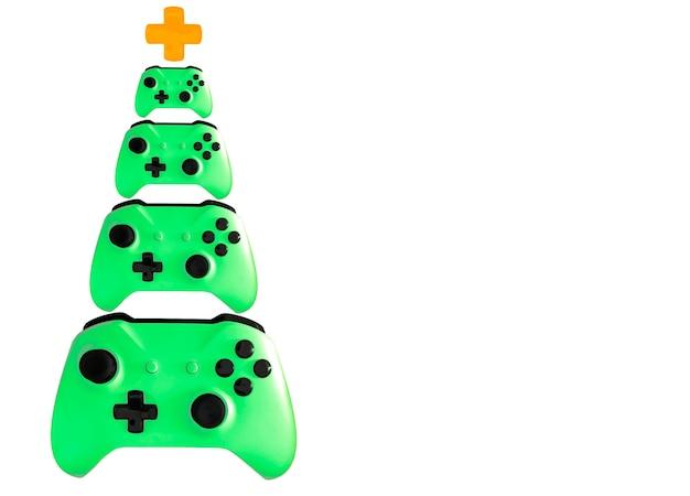 Weihnachtsbaum aus videospielsteuerung