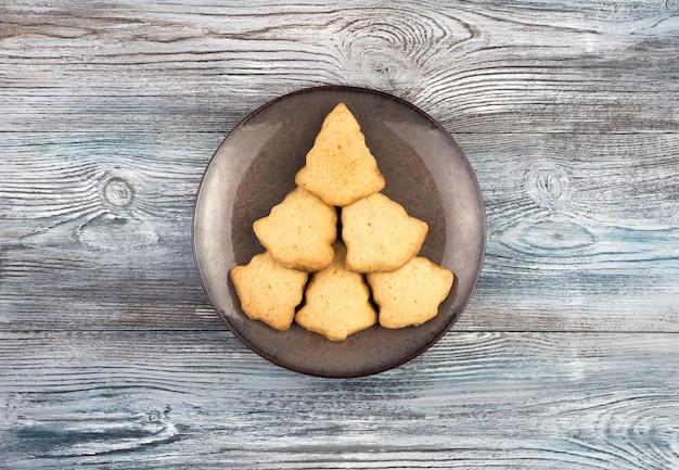 Weihnachtsbaum geformte kekse