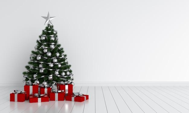 Weihnachtsbaum im reinraum für modell
