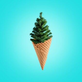 Weihnachtsbaum mit eistüte