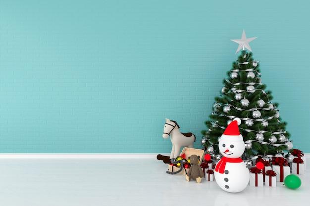 Weihnachtsbaum und schneemann für modell