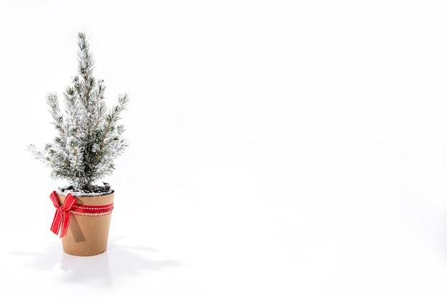 Weihnachtsbaumdekoration. kleiner weihnachtsbaum isoliert