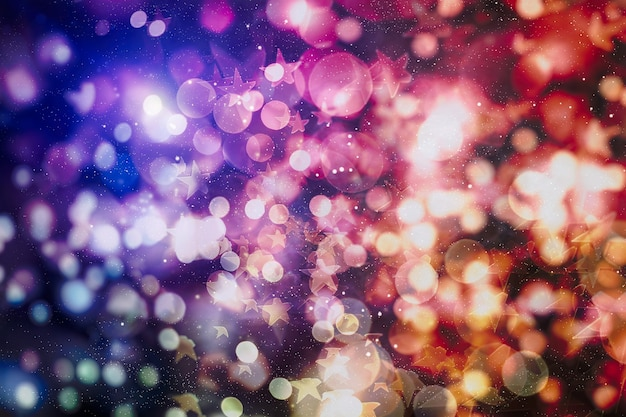 Weihnachtsbeleuchtung. gold holiday new year abstract glitter defocused hintergrund mit blinkenden sternen und funken.