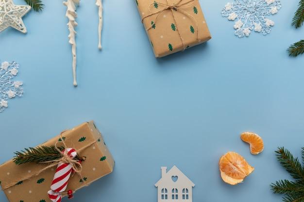 Weihnachtsblauer hintergrund