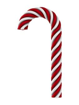 Weihnachtsbonbon auf weißem hintergrund. isolierte 3d-illustration