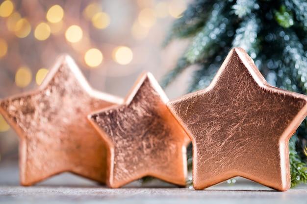 Weihnachtsbronze dekoration.