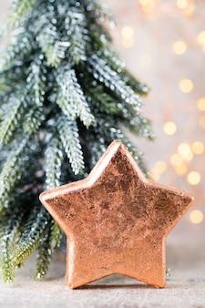Weihnachtsbronze dekoration