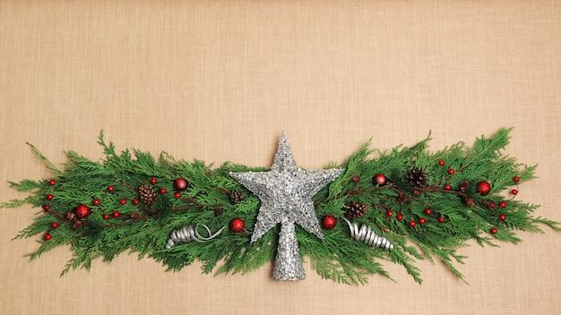 Weihnachtsdekoration auf leinwand