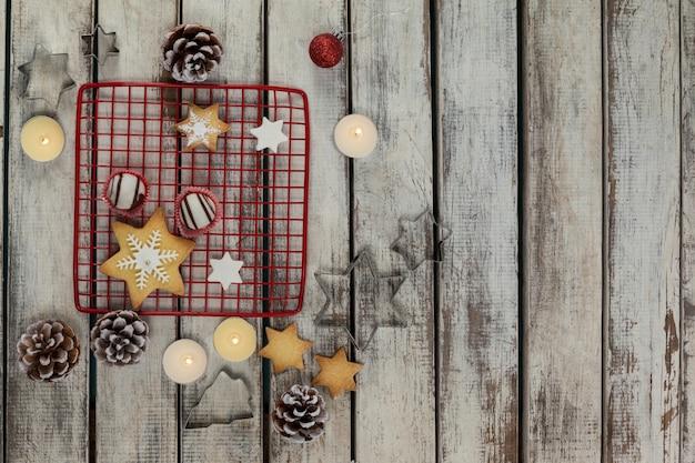 Weihnachtsdekoration, keks und formen