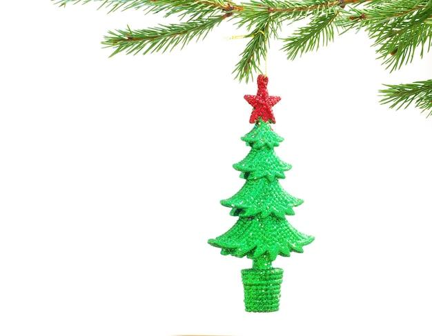Weihnachtsdekoration lokalisiert auf dem weißen hintergrund