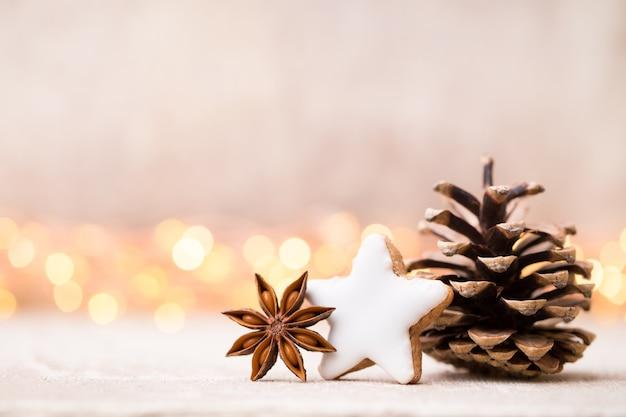 Weihnachtsdekoration und grußkarte. symbol weihnachten.