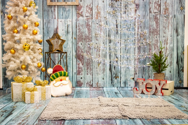 Weihnachtsdekorationen für die fotografie