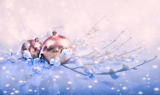 Weihnachtsdekorationen, getontes bild