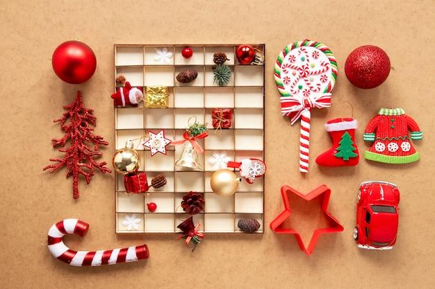 Weihnachtsdekorationen mit zuckerstange