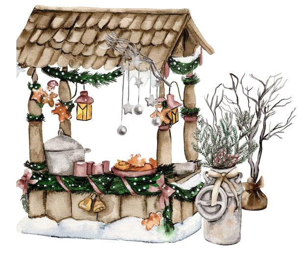 Weihnachtsdorf mit zwergen
