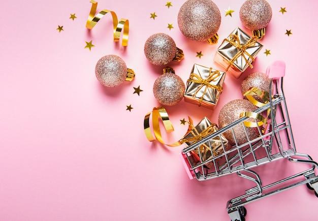 Weihnachtseinkaufswagen