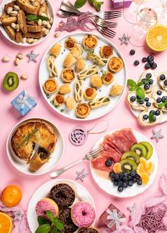 Weihnachtsessen party tisch