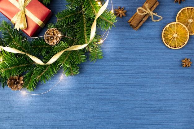 Weihnachtsferien blaue komposition