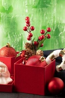 Weihnachtsfest hintergrund dekorationsgegenstände