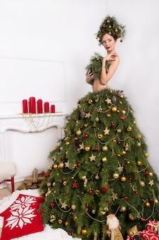 Weihnachtsfrau.