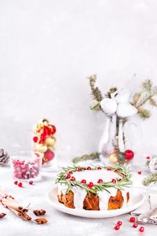 Weihnachtsfruchtkuchen-backpudding