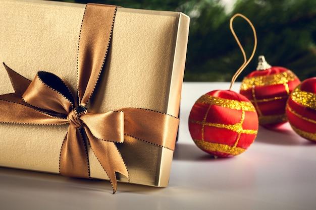 Weihnachtsgeschenk-box. weihnachten hintergrund