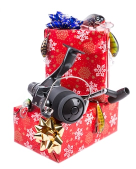 Weihnachtsgeschenk in box für fischer