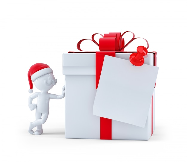 Weihnachtsgeschenkbox mit leerer karte