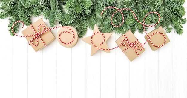 Weihnachtsgeschenkboxen dekoration