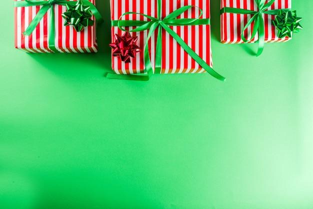 Weihnachtsgeschenkboxen hintergrund