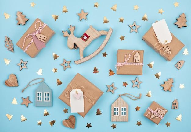 Weihnachtsgeschenke und dekoration