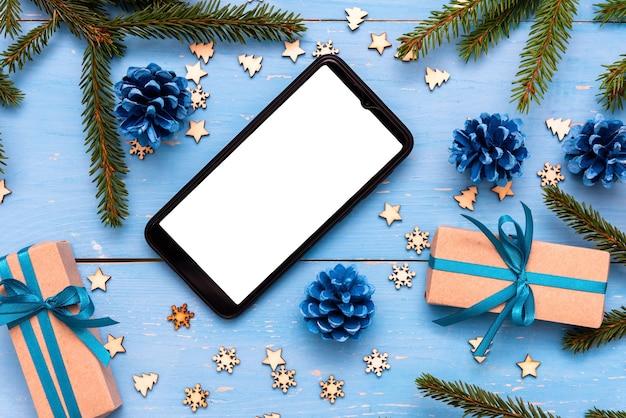 Weihnachtsgeschenke und telefon