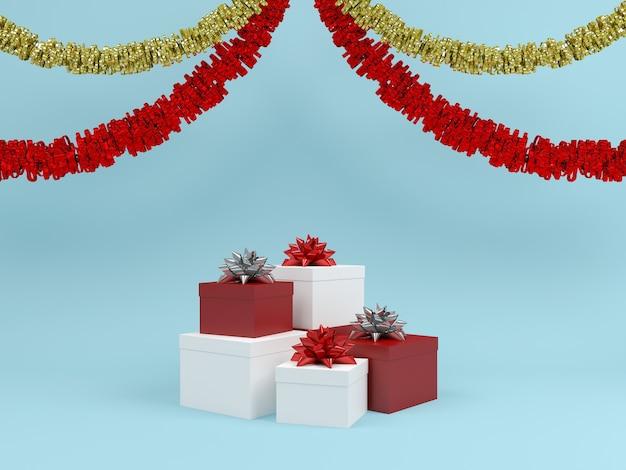 Weihnachtsgeschenkkasten-pastellhintergrund
