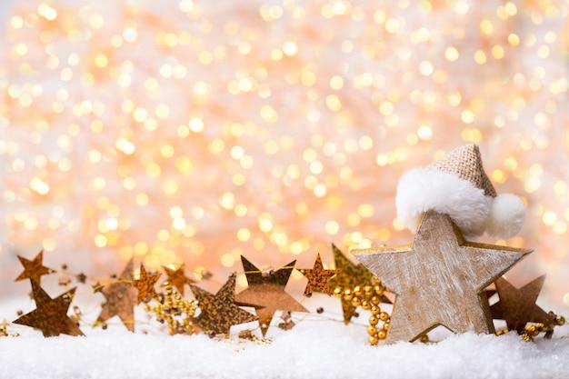 Weihnachtsgolddekorationen.