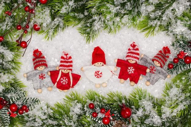 Weihnachtsgrußkarte. noel festlich