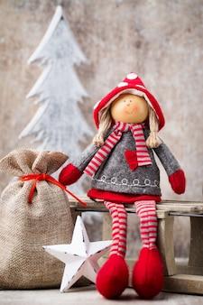 Weihnachtsgrußkarte. noel gnom. weihnachtssymbol.