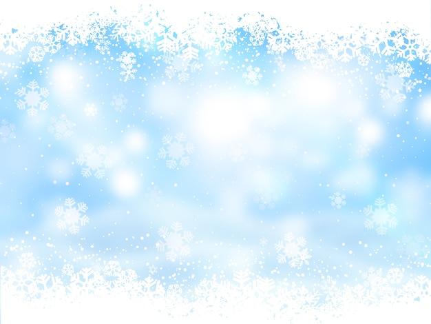 Weihnachtshintergrund mit schneeflockendesign
