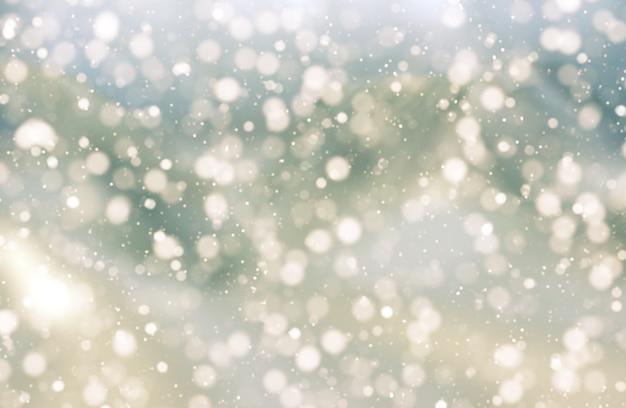 Weihnachtshintergrund von bokeh lichter