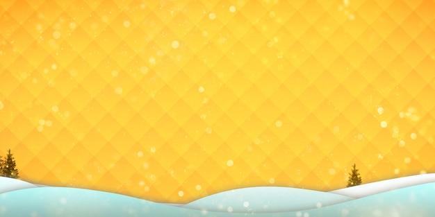 Weihnachtshintergrund weitwinkel-winterhintergrund mit bergen und schnee