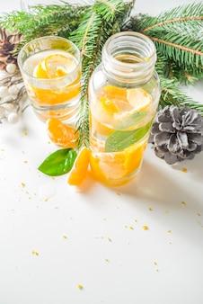 Weihnachtsklementine und ingwer gin