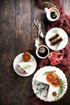 Weihnachtsköstlicher schokoladenkuchen