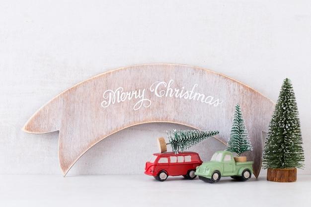 Weihnachtskonzept hintergründe. weihnachtskalender, 24. dezember auf dem grauen hintergrund.