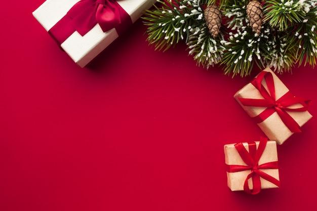 Weihnachtskonzept mit kopienraum