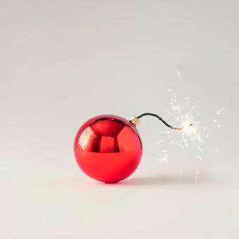 Weihnachtskugel dekoration sicherungsbombe