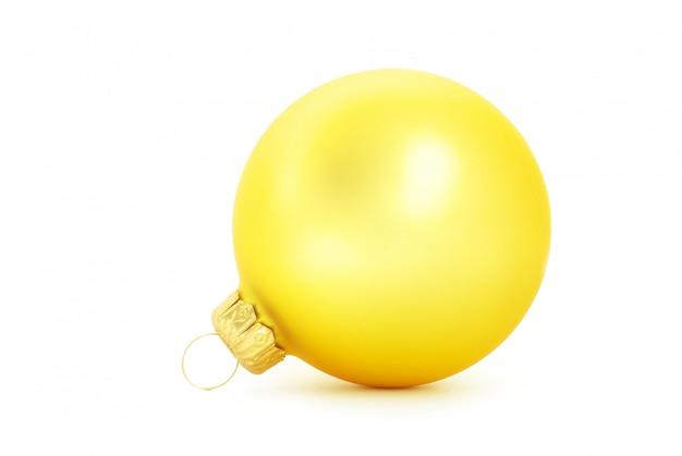 Weihnachtskugel, gelbe kugel