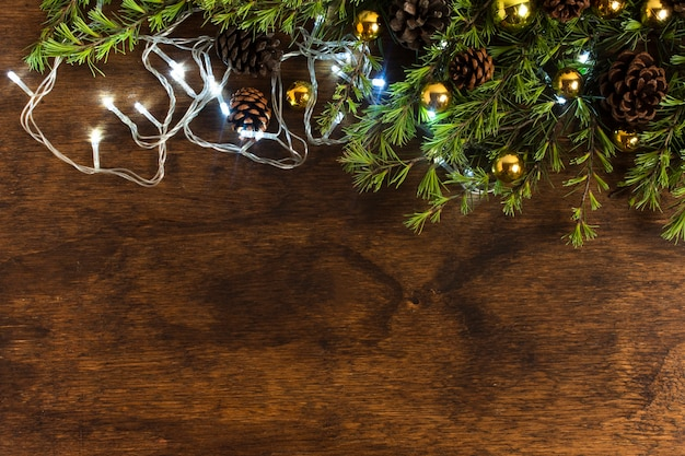 Weihnachtslichter mit kopienraum