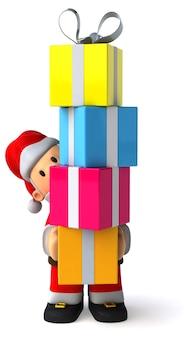Weihnachtsmann 3d-illustration