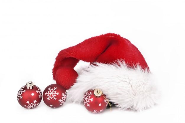 Weihnachtsmann auf weihnachtskugeln