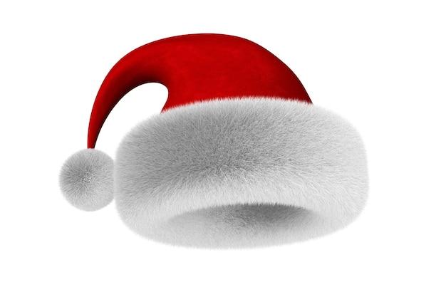Weihnachtsmann-hut 3d-illustration