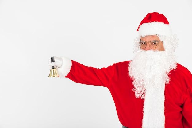 Weihnachtsmann klingelt glocke